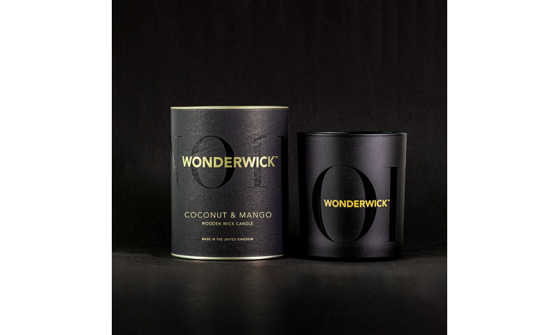Country Candle Coconut & Mango Wonderwick™ Noir Candle in Glass