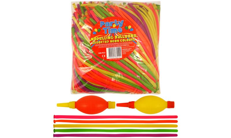 Modelling Balloons Craft Kit, 500 Balloons & 2 Pumps