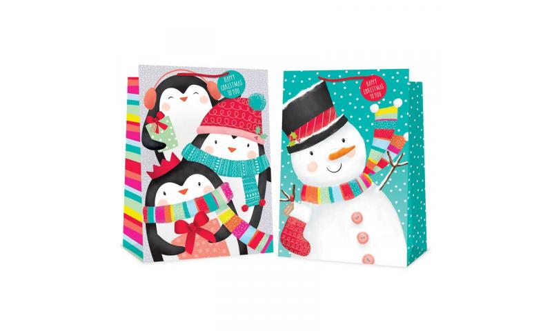 Jumbo Xmas Gift Bags , Various Designs Asstd