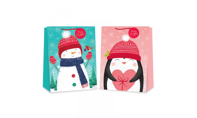 Xmas X/Large Gift Bags, Various Assorted Designs