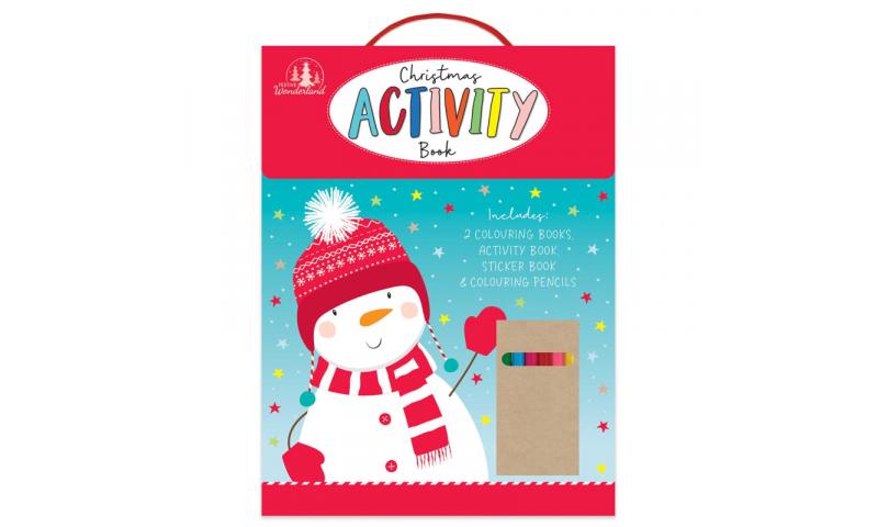 Xmas Kids Activity Set containing 4 books & Colouring Pencils