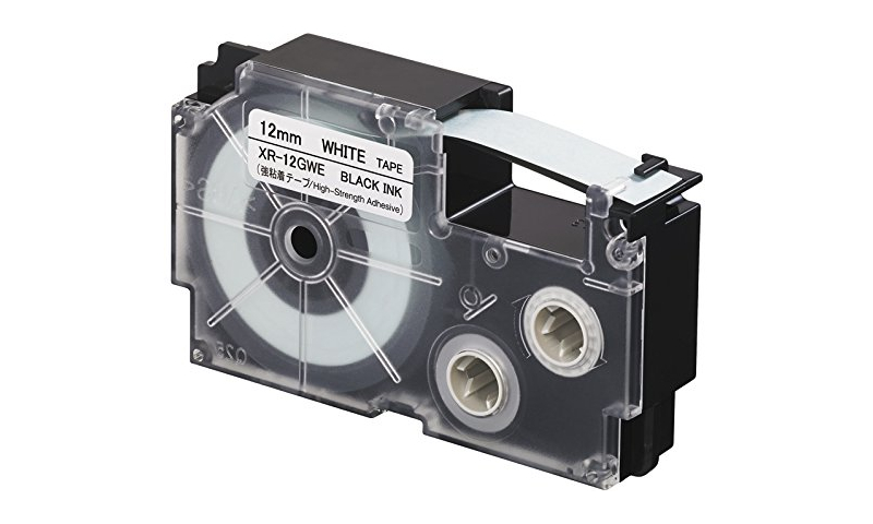 Casio Label Printer tape - 12mm Black on White