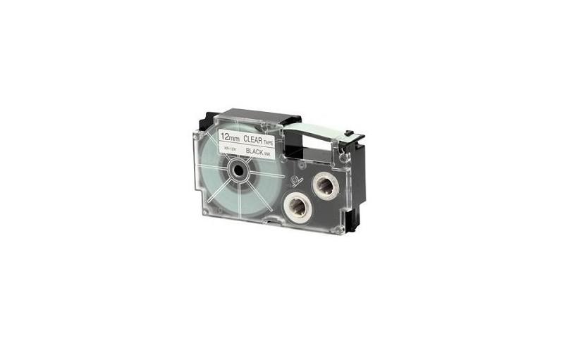 Casio Label Printer tape - 12mm Black on Clear