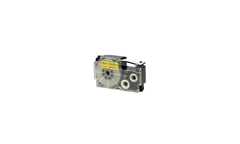 Casio Label Printer tape - 12mm Black on Yellow