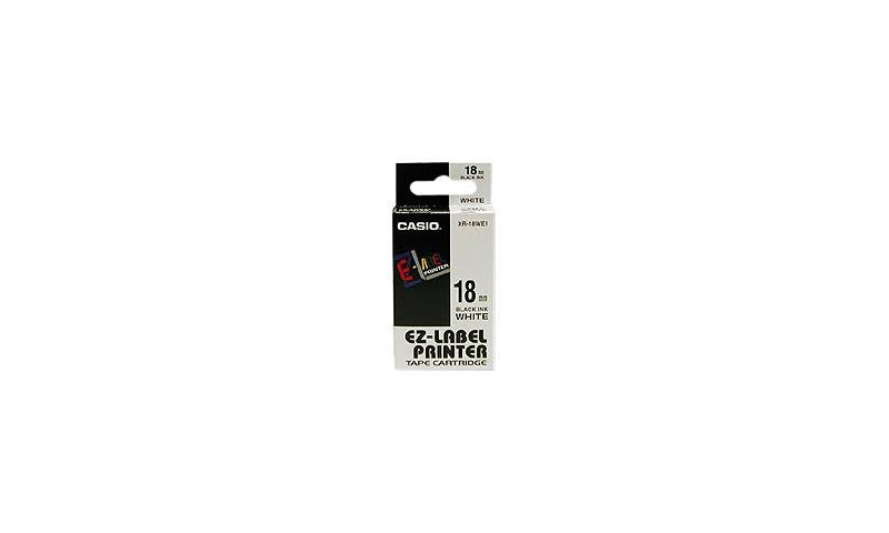 Casio Label Printer tape - 18mm Black on White