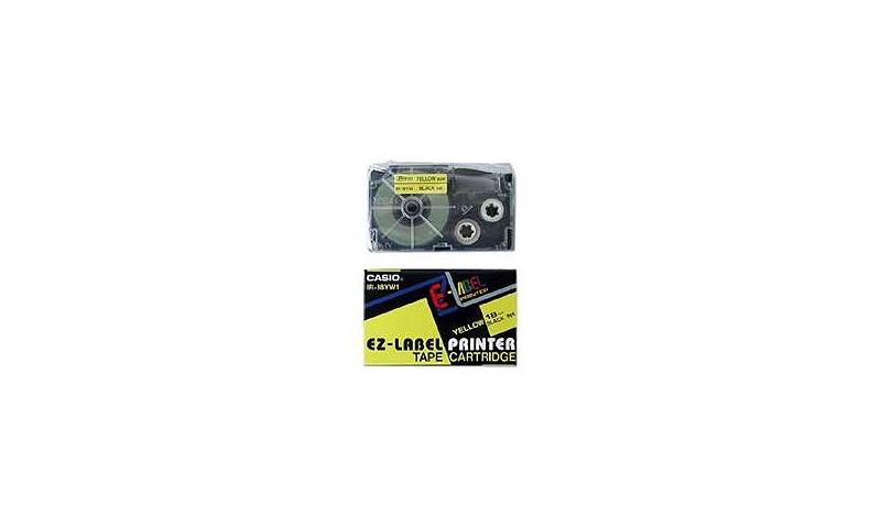 Casio Label Printer tape - 18mm Black on Yellow