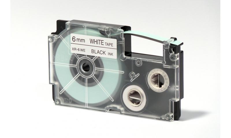 Casio Label Printer tape - 6mm Black on White