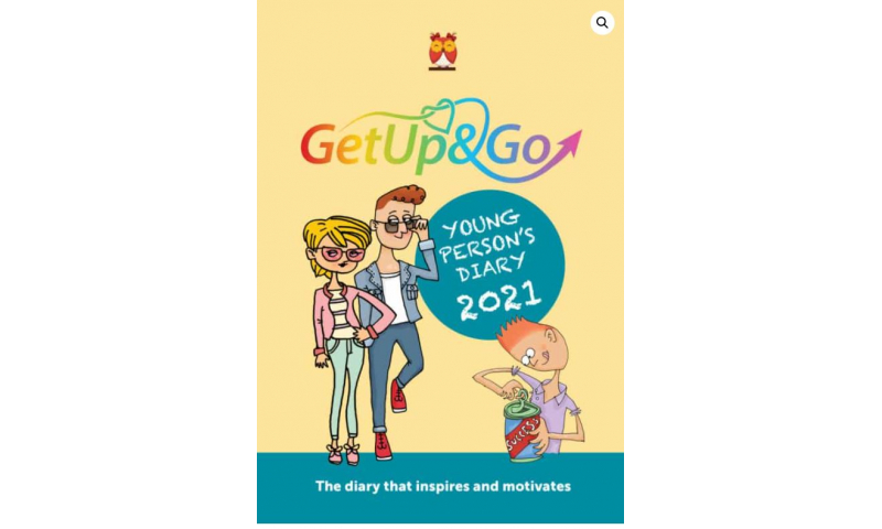 """Get Up & Go A5 Softcover """"Young Persons"""" Diary 2022"""