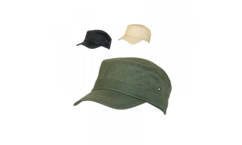 Adult Safari Cap, with 1 colour print or embroidery up to 3000 stitches **
