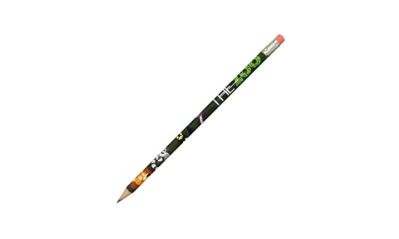 HB Pencil with Eraser Full Colour 360 wrap print