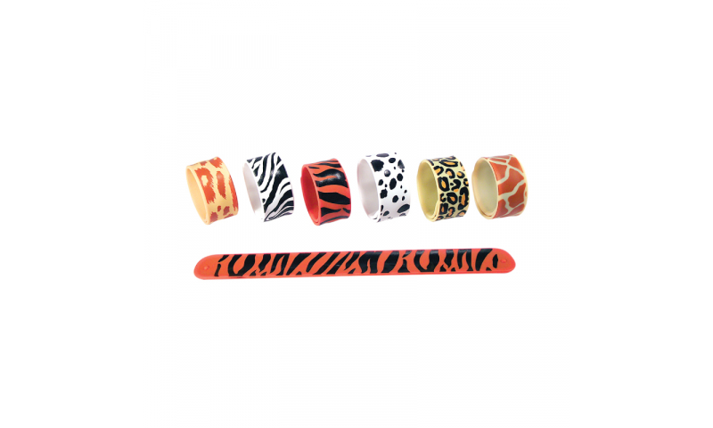 Safari Silicone Slap Band, 1 col print incorporated, x6 styles available